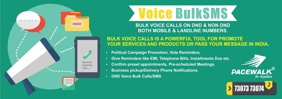 Voice Bulk SMS Service bathinda india | pacewalk